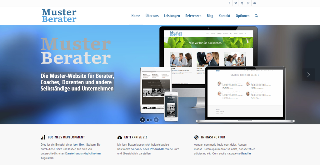 Berater-Homepage