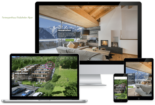 wordpress website ferienhaus