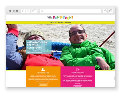 wordpress-website-villa-kunterbunt