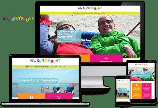 wordpress website villakunterbunt