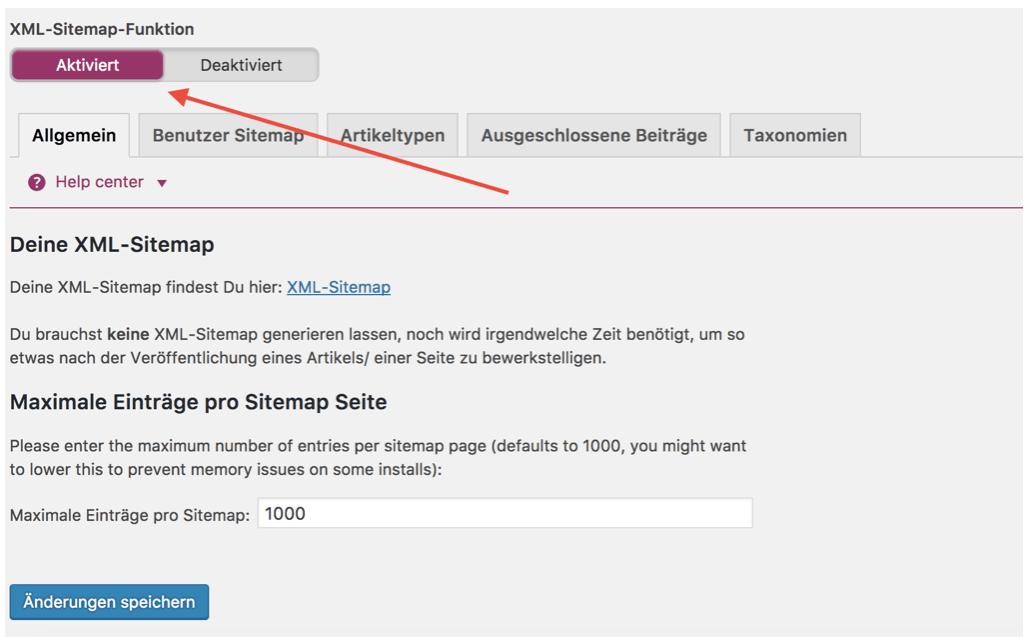 XML Sitemap WordPress SEO