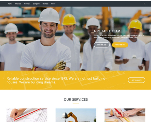 wordpress website industrie
