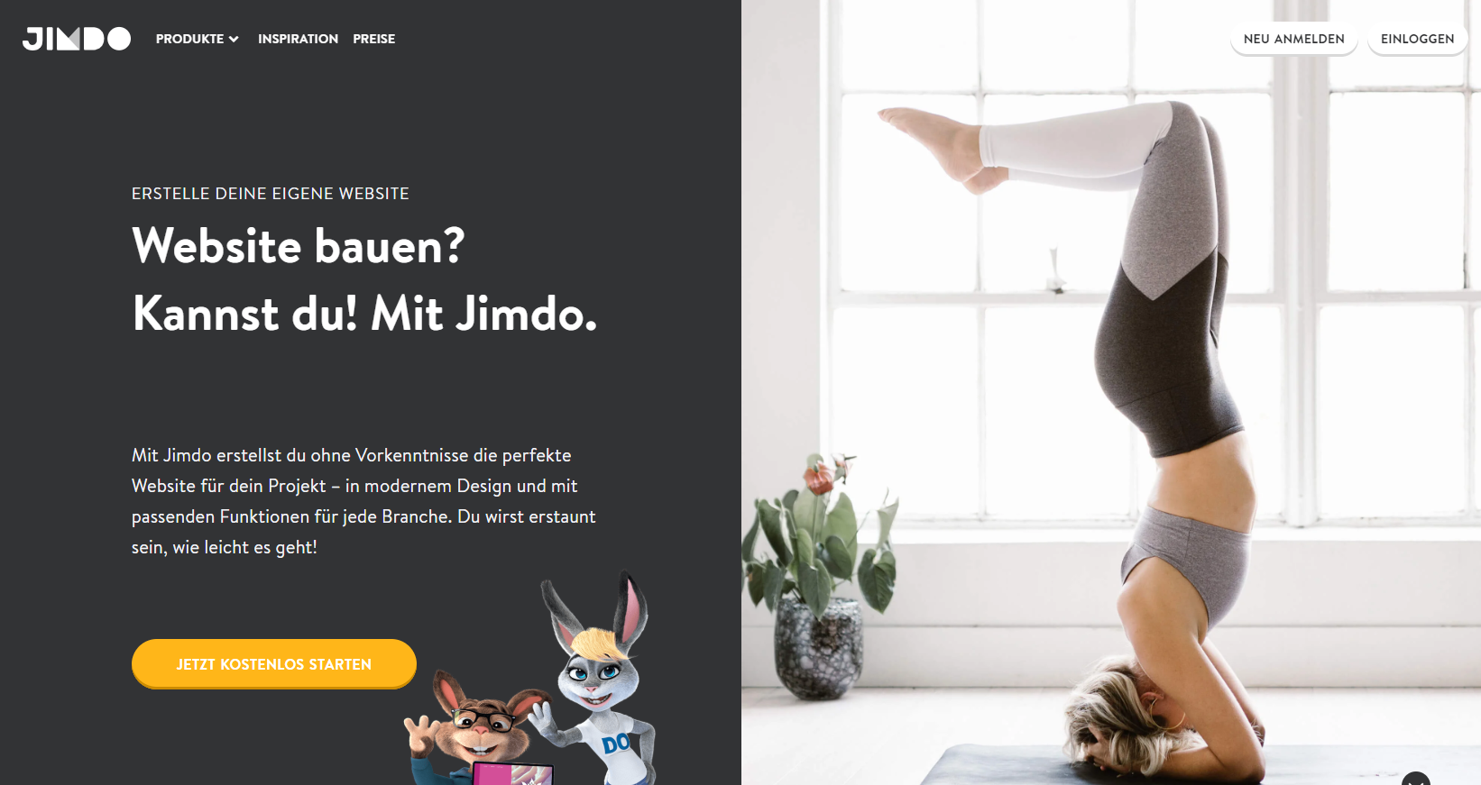 Blog-Plattform jimdo