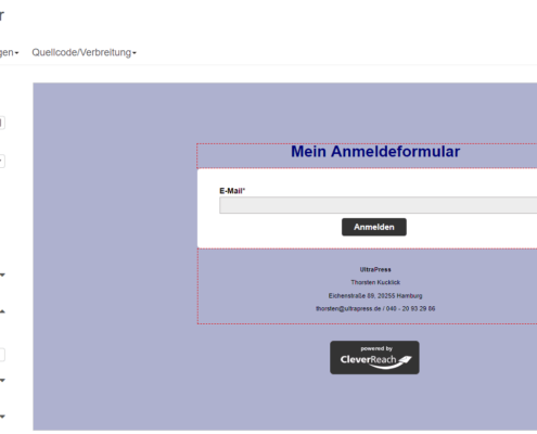 Anmeldeformular CleverReach