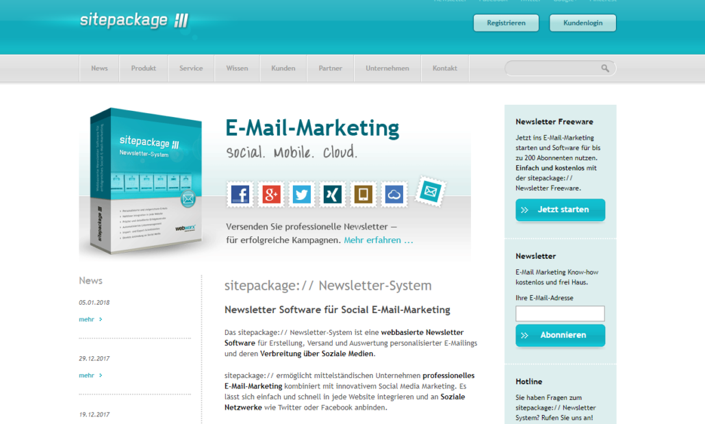 sitepackage - wordpress newsletter plugin