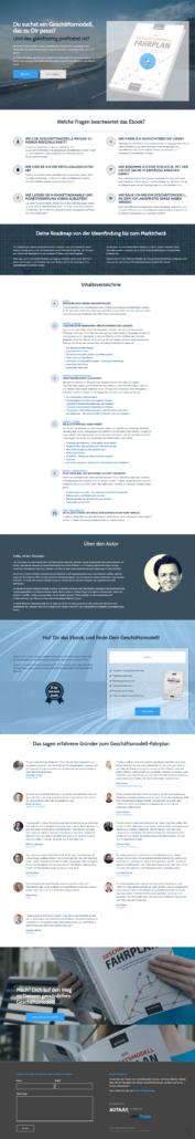WordPress-Produkt-Seite Beispiel