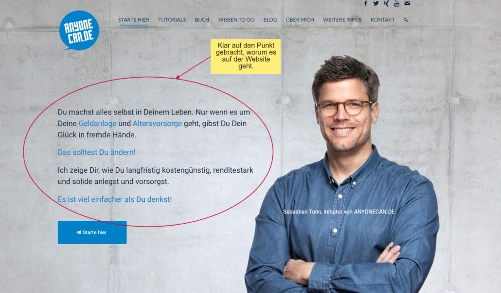 wordpress seiten beispiel anyonecan.de