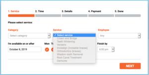 WordPress Beispiel für ein Terminbuchunngsformular