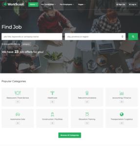 WordPress Beispiel für ein Jobportal