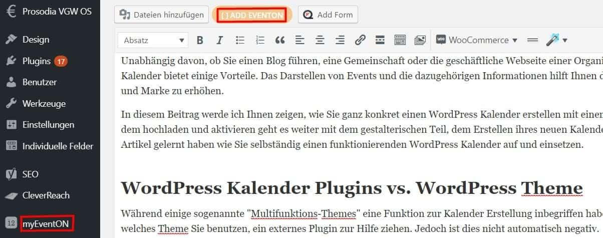 EventOn WordPress