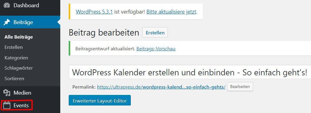 EventOn WordPress Pin