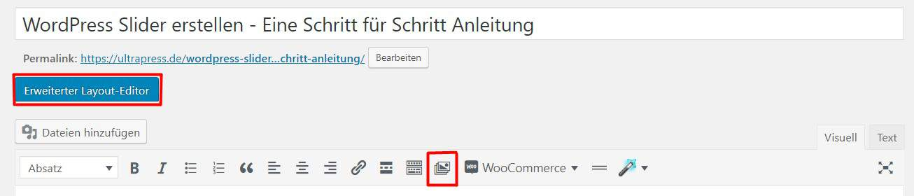 LayerSlider im WordPress Editor
