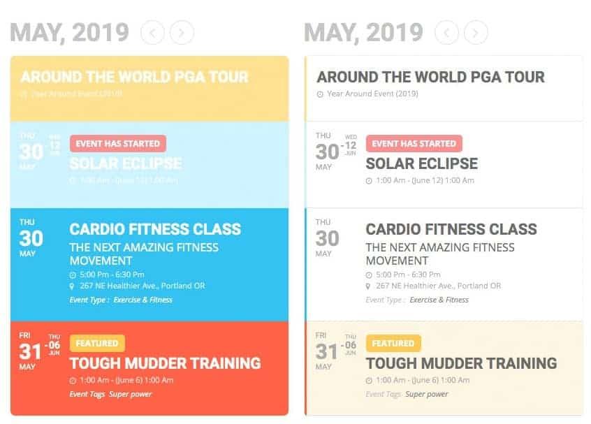 WordPress Kalender EventOn Beispiele