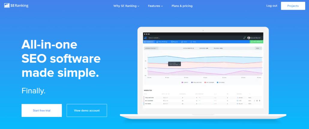 SE Ranking - SEO Analyse Tool