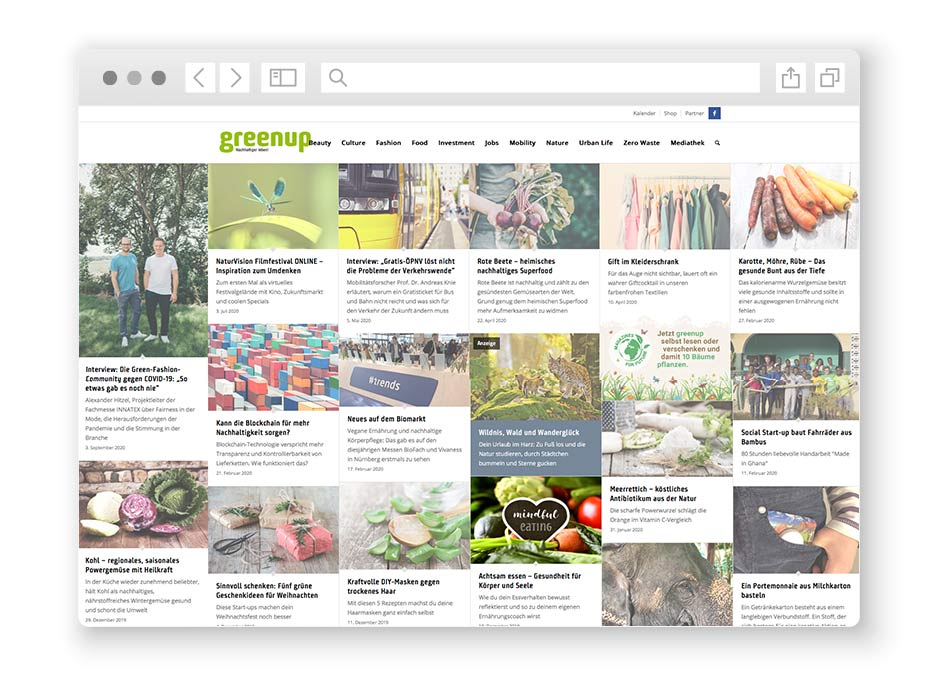 wordpress-website-greenup-magazin